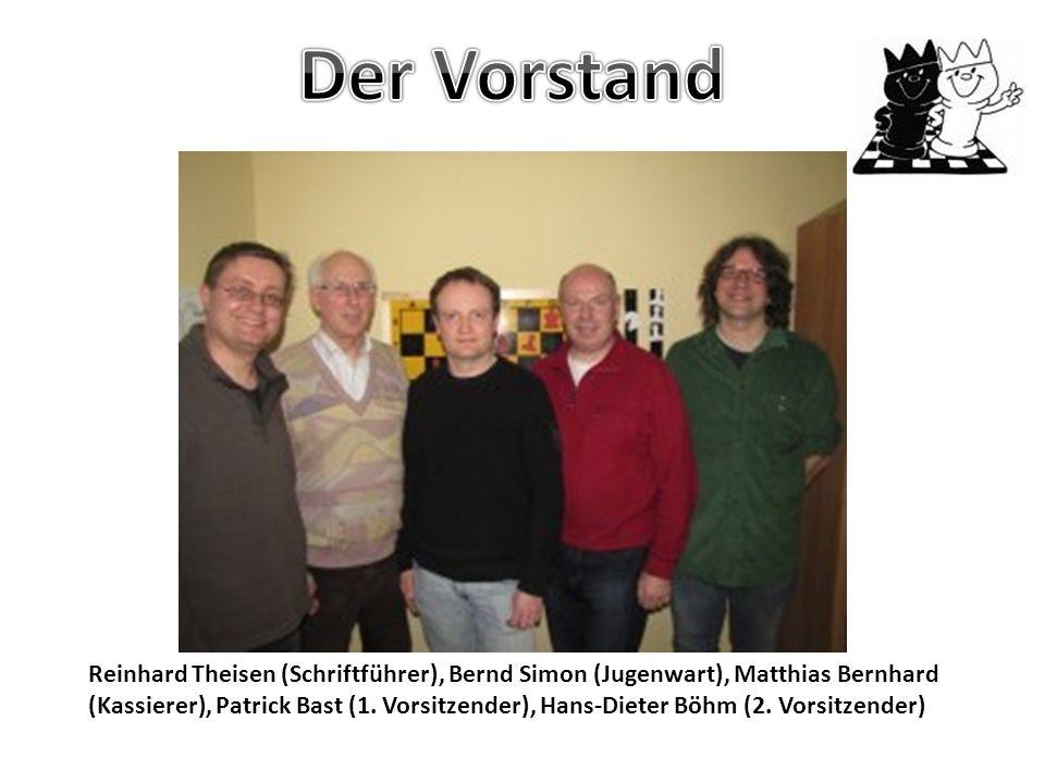 Reinhard Theisen (Schriftführer), Bernd Simon (Jugenwart), Matthias Bernhard (Kassierer), Patrick Bast (1.