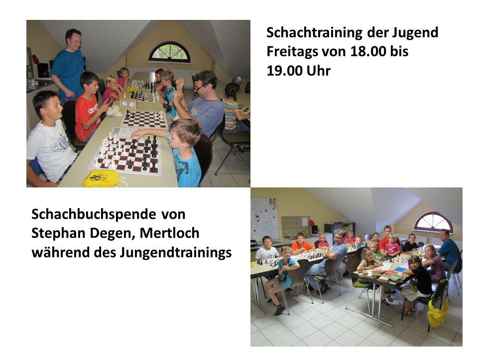 … sage ich :  Rudi Linke und Stephan Degen für die Schachbücher- u.