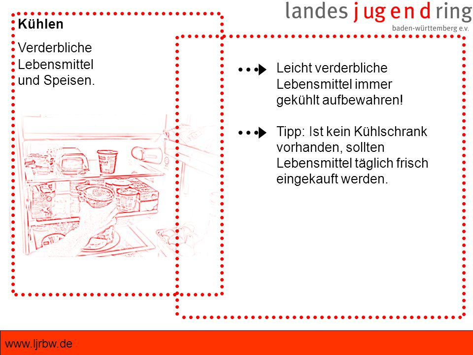 www.ljrbw.de Kühlen Verderbliche Lebensmittel und Speisen.