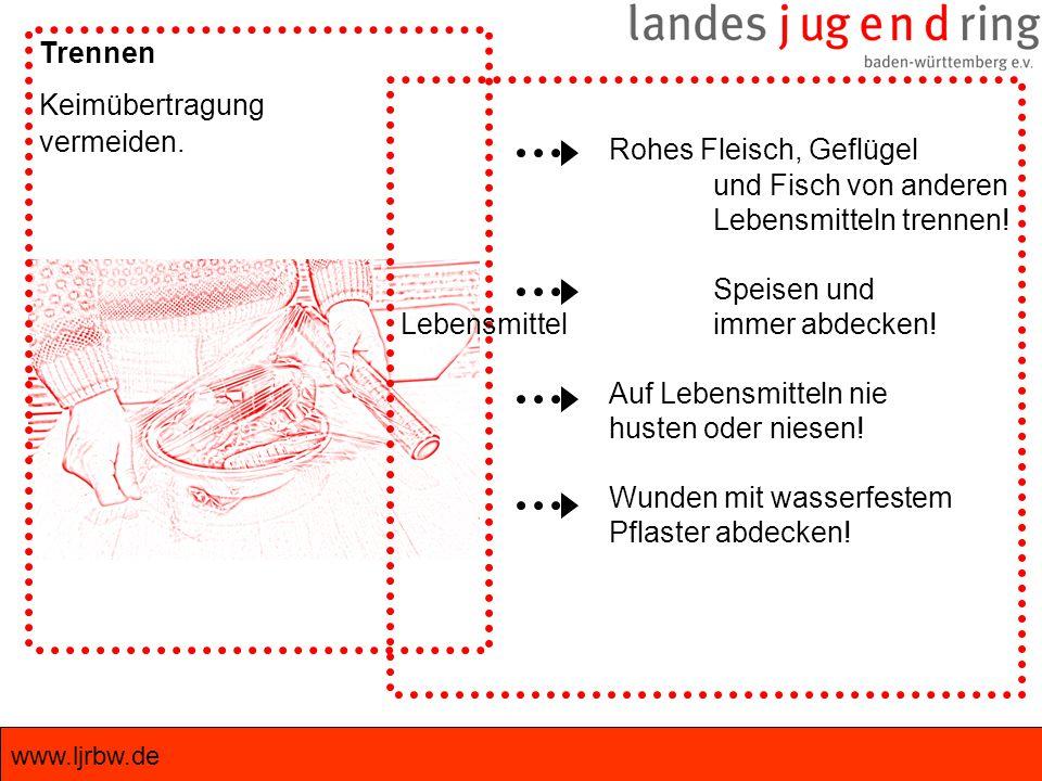 www.ljrbw.de Trennen Keimübertragung vermeiden.