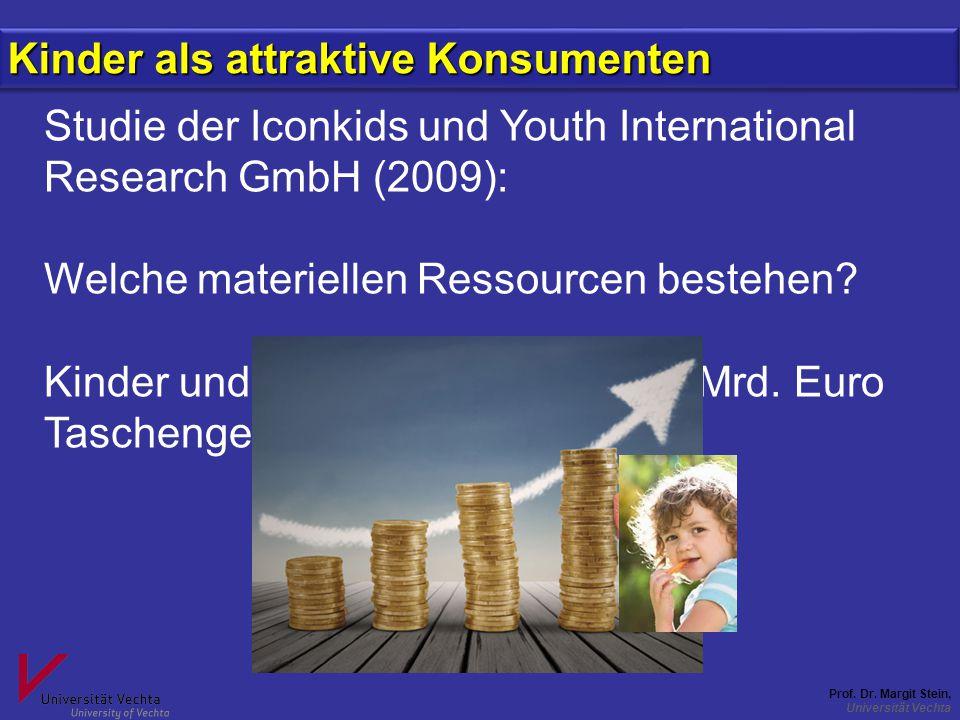 Prof. Dr. Margit Stein, Universität Vechta Studie der Iconkids und Youth International Research GmbH (2009): Welche materiellen Ressourcen bestehen? K