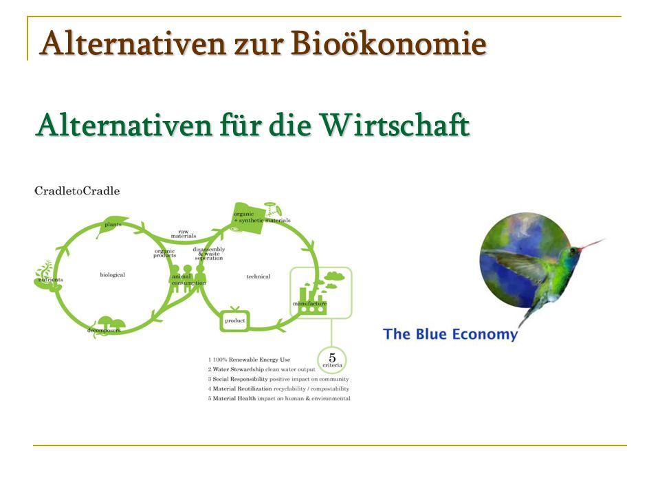 Alternativen zur Bioökonomie Alternativen für die Wirtschaft