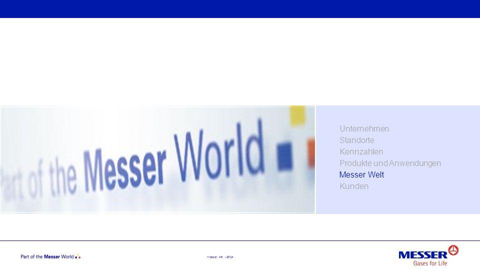 Messer 45 - 2014 Unternehmen Standorte Kennzahlen Produkte und Anwendungen Messer Welt Kunden