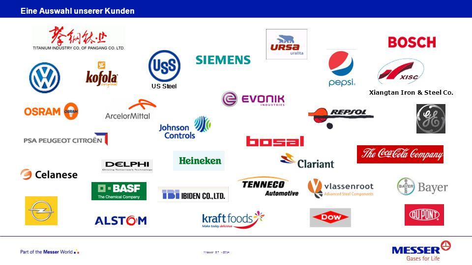 Messer 57 - 2014 Eine Auswahl unserer Kunden Xiangtan Iron & Steel Co. US Steel