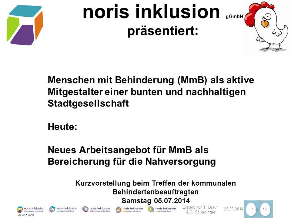 VO-001/1-05/13 Erstellt von T. Braun & C. Schadinger 23.06.2014 1 von 10 Menschen mit Behinderung (MmB) als aktive Mitgestalter einer bunten und nachh