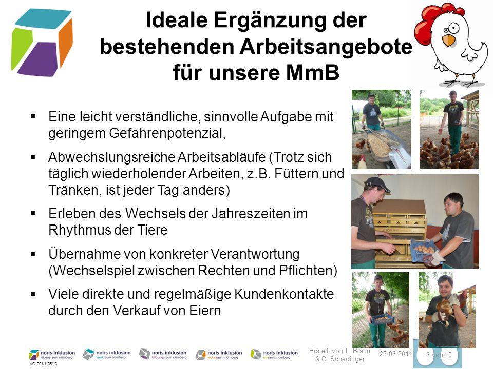 VO-001/1-05/13 23.06.2014 7 von 10 Die Huhnpatenschaft Rent a Huhn verbindet die Beschäftigten von noris inklusion mit den Bürgern Nürnbergs.