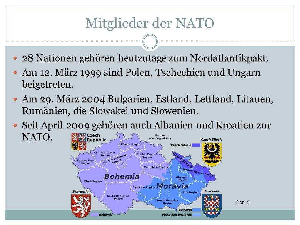 Mitglieder der NATO 28 Nationen gehören heutzutage zum Nordatlantikpakt. Am 12. März 1999 sind Polen, Tschechien und Ungarn beigetreten. Am 29. März 2