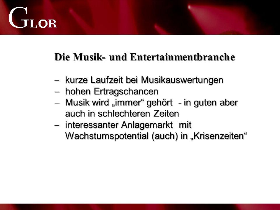 """Die Musik- und Entertainmentbranche  kurze Laufzeit bei Musikauswertungen  hohen Ertragschancen  Musik wird """"immer"""" gehört - in guten aber auch in"""