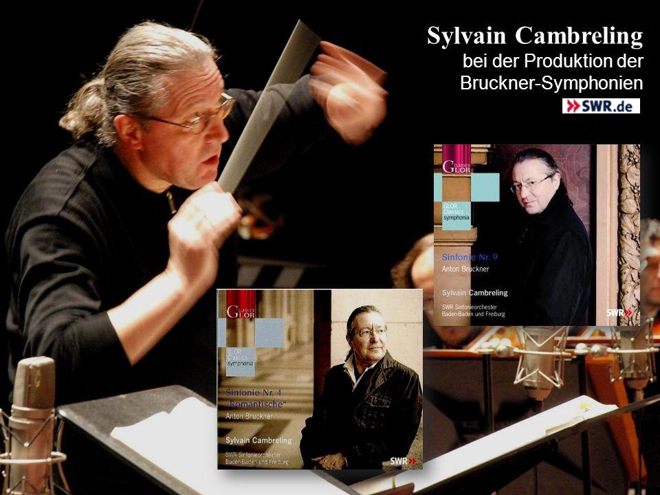 Sylvain Cambreling bei der Produktion der Bruckner-Symphonien