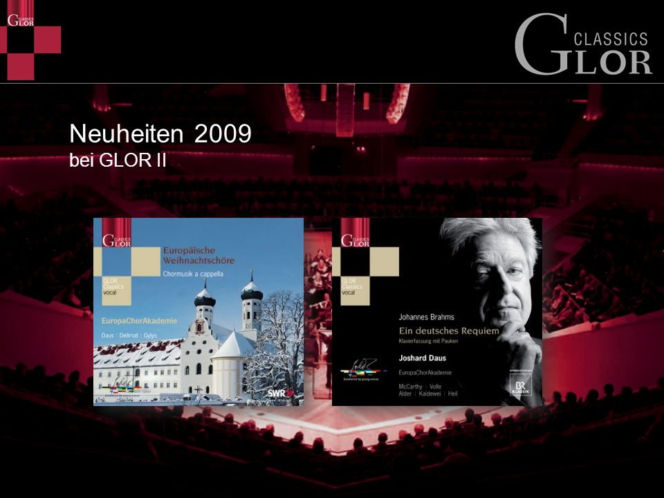 Neuheiten 2009 bei GLOR II