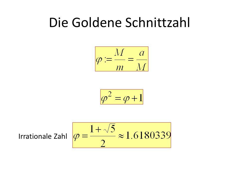Die Goldene Schnittzahl Das Quadrat von hat die gleichen Dezimalen wie die Zahl Der reziproken Wert hat die gleichen Dezimalen wie die Zahl