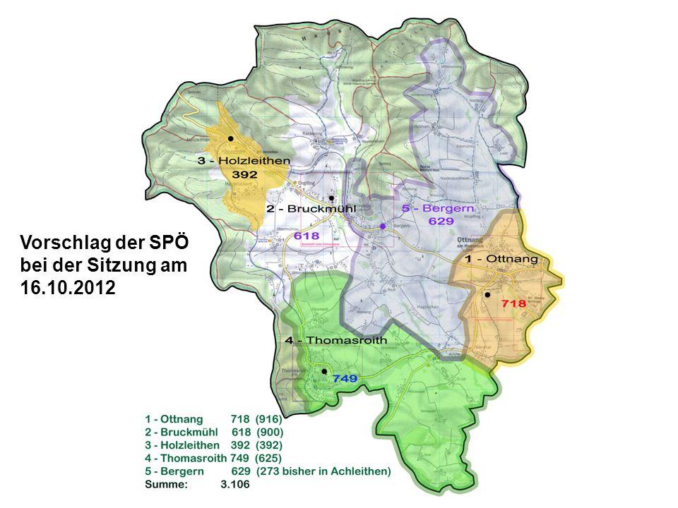 Vorschlag der SPÖ bei der Sitzung am 16.10.2012