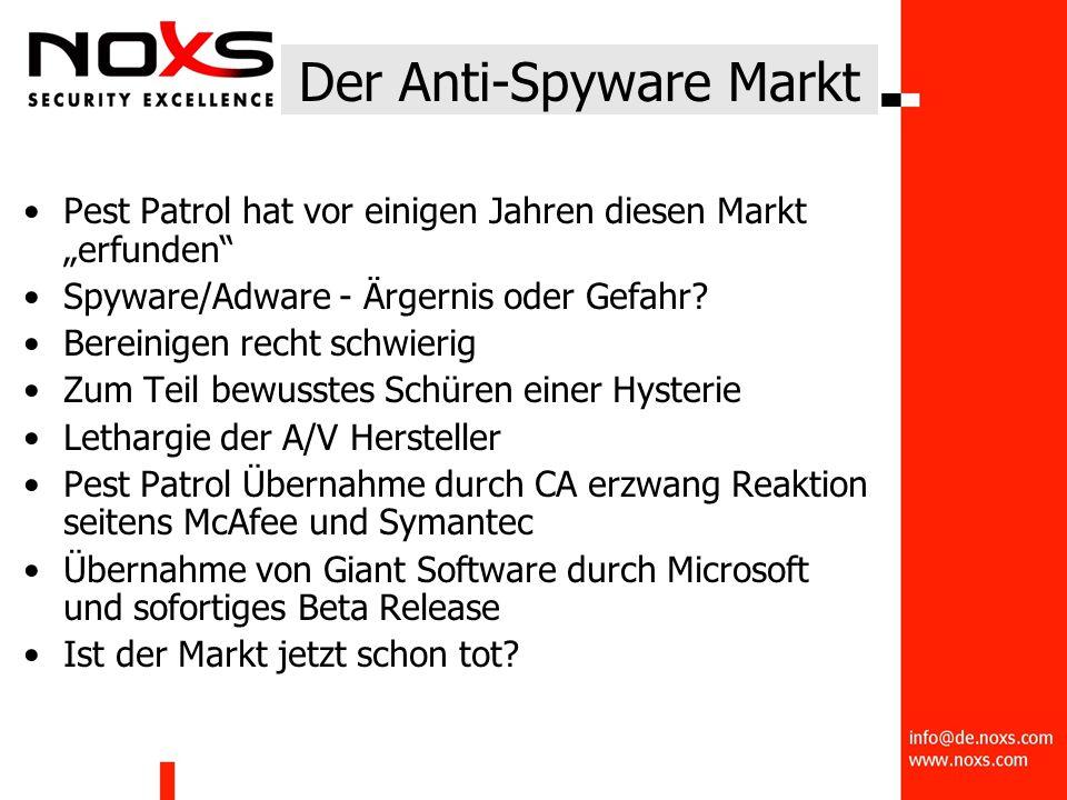 """Der Anti-Spyware Markt Pest Patrol hat vor einigen Jahren diesen Markt """"erfunden Spyware/Adware - Ärgernis oder Gefahr."""