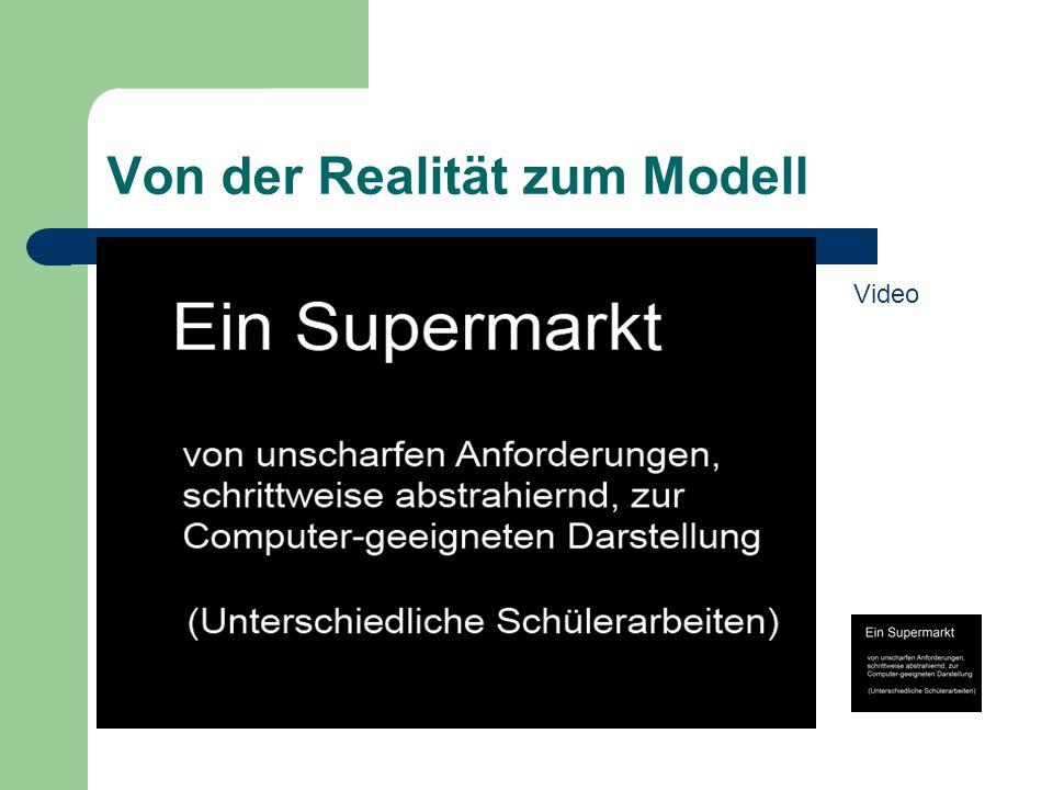 Von der Realität zum Modell Video