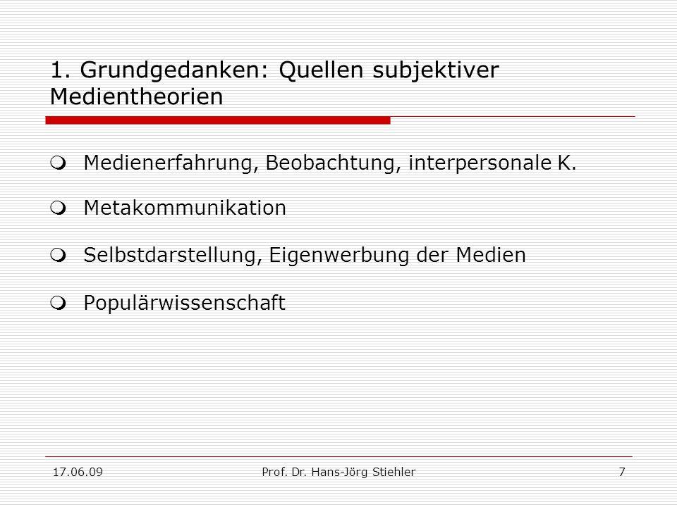 17.06.09Prof.Dr. Hans-Jörg Stiehler8 2.