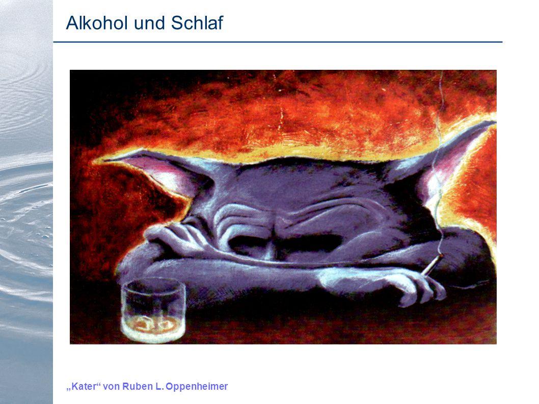"""""""Kater"""" von Ruben L. Oppenheimer Alkohol und Schlaf"""