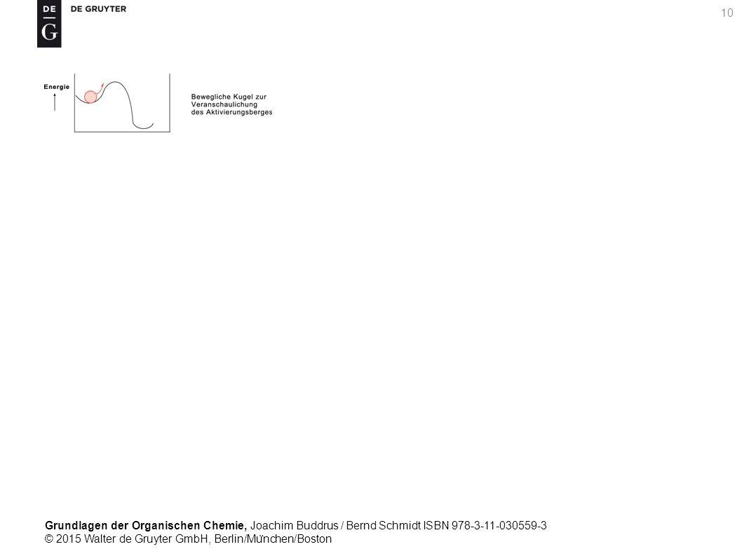 Grundlagen der Organischen Chemie, Joachim Buddrus / Bernd Schmidt ISBN 978-3-11-030559-3 © 2015 Walter de Gruyter GmbH, Berlin/Mu ̈ nchen/Boston 10