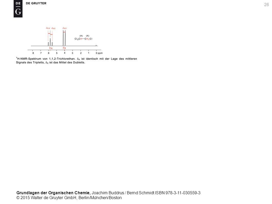 Grundlagen der Organischen Chemie, Joachim Buddrus / Bernd Schmidt ISBN 978-3-11-030559-3 © 2015 Walter de Gruyter GmbH, Berlin/Mu ̈ nchen/Boston 28
