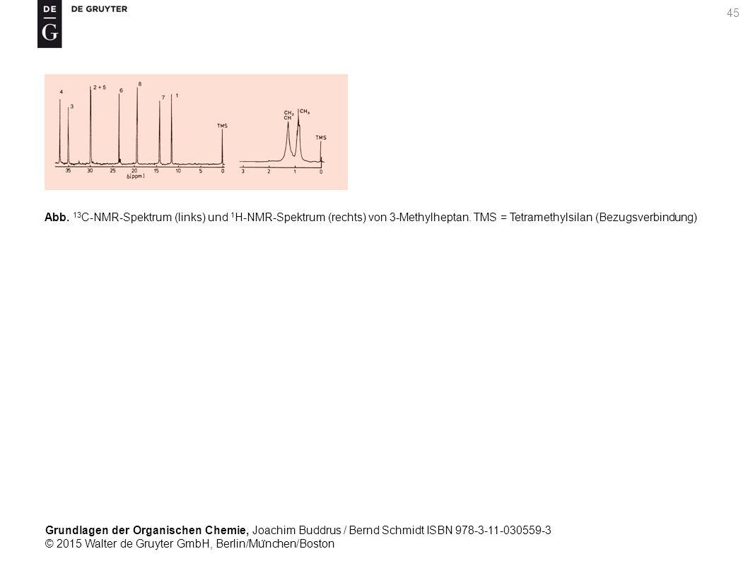 Grundlagen der Organischen Chemie, Joachim Buddrus / Bernd Schmidt ISBN 978-3-11-030559-3 © 2015 Walter de Gruyter GmbH, Berlin/Mu ̈ nchen/Boston 45 Abb.