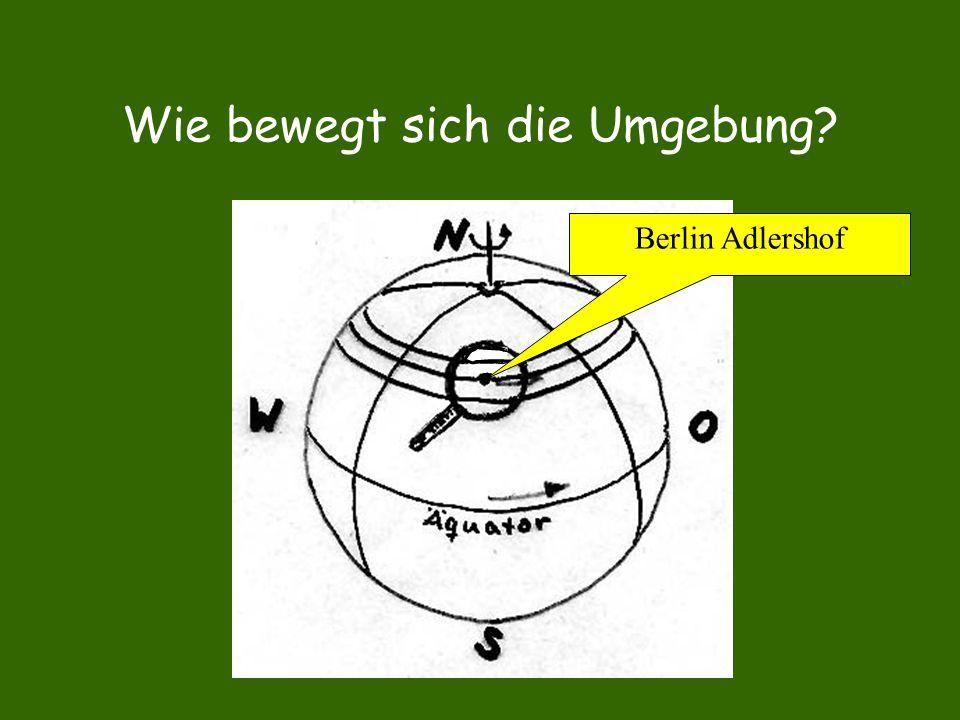 Wie bewegt sich die Umgebung? Berlin Adlershof