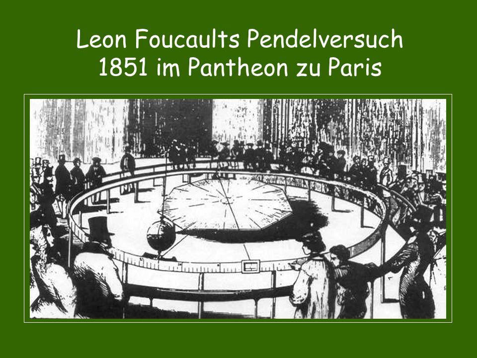 Leon Foucaults Pendelversuch 1851 im Pantheon zu Paris
