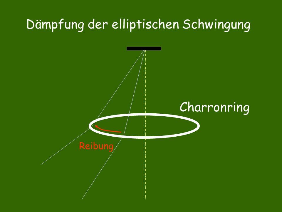 Reibung Charronring Dämpfung der elliptischen Schwingung