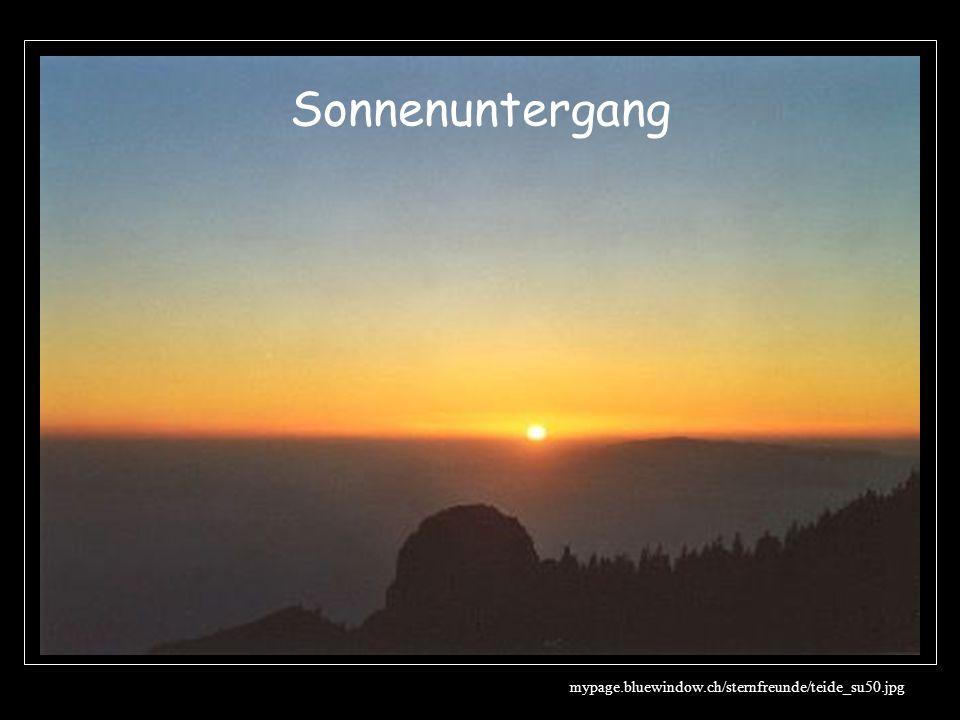 Sonnenuntergang mypage.bluewindow.ch/sternfreunde/teide_su50.jpg