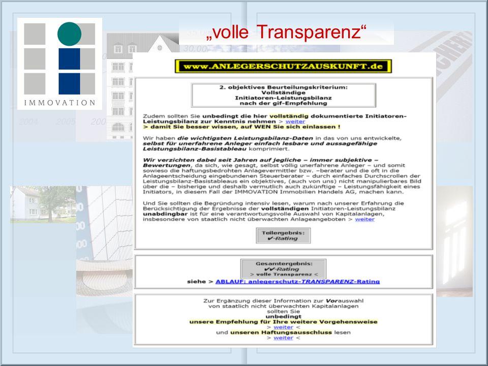 """volle Transparenz"""