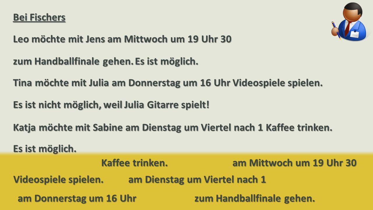 am Mittwoch um 19 Uhr 30 zum Handballfinale gehen.
