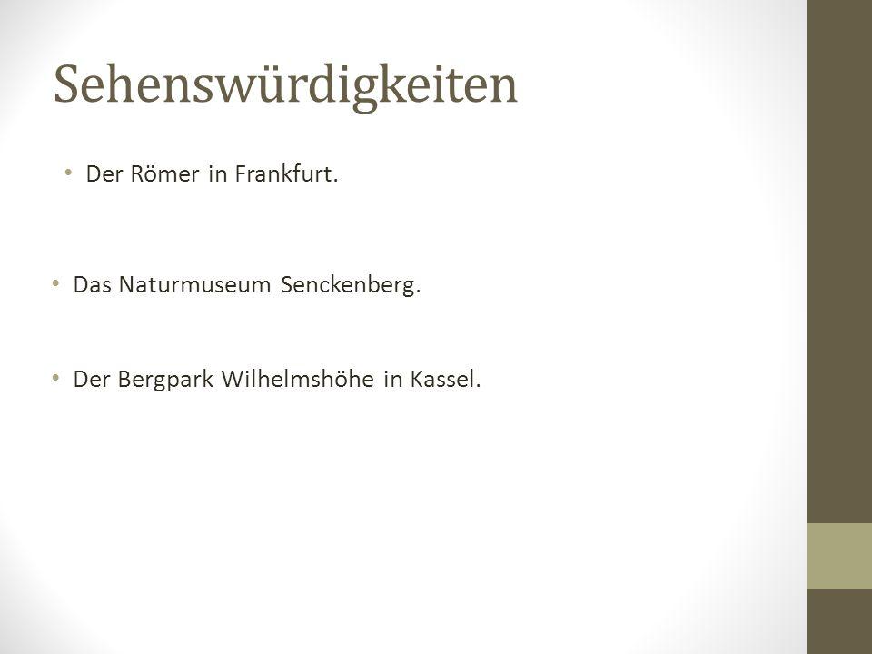 Leckeres aus der Region Die Frankfurter grüne Soße ist eine Spezialität der Region.