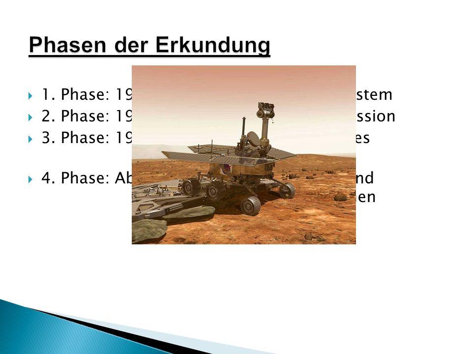  1.Phase: 1959-1967: Inneres Planetensystem  2.