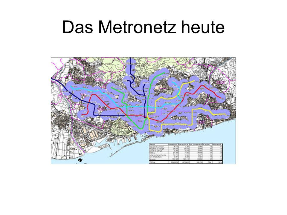 Das Metronetz heute