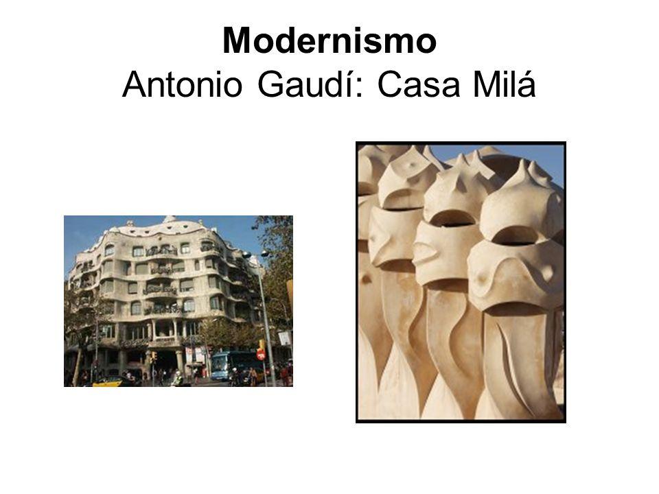 Modernismo Antonio Gaudí: Casa Milá