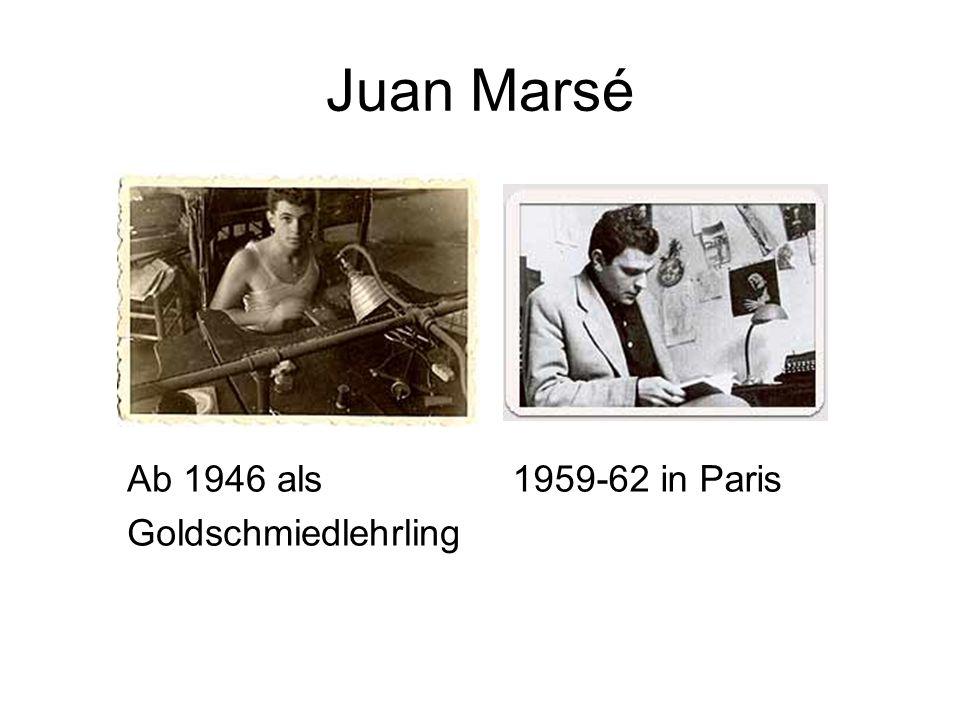 Juan Marsé Ab 1946 als Goldschmiedlehrling 1959-62 in Paris