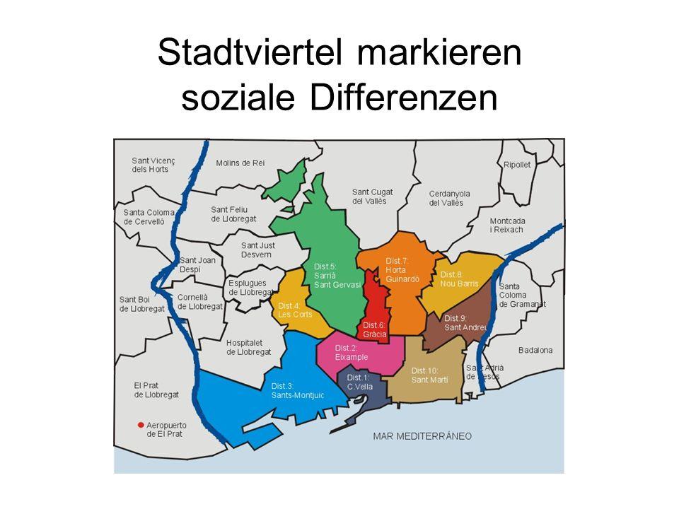 Stadtviertel markieren soziale Differenzen