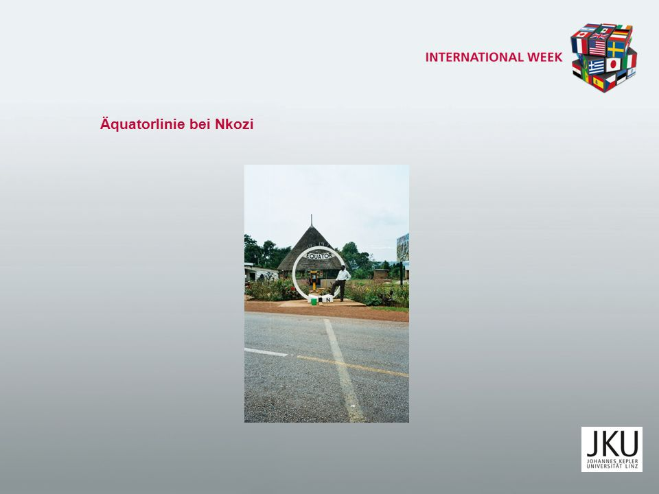 Äquatorlinie bei Nkozi