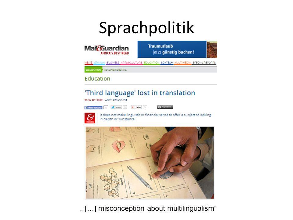 """Sprachpolitik """" […] misconception about multilingualism"""