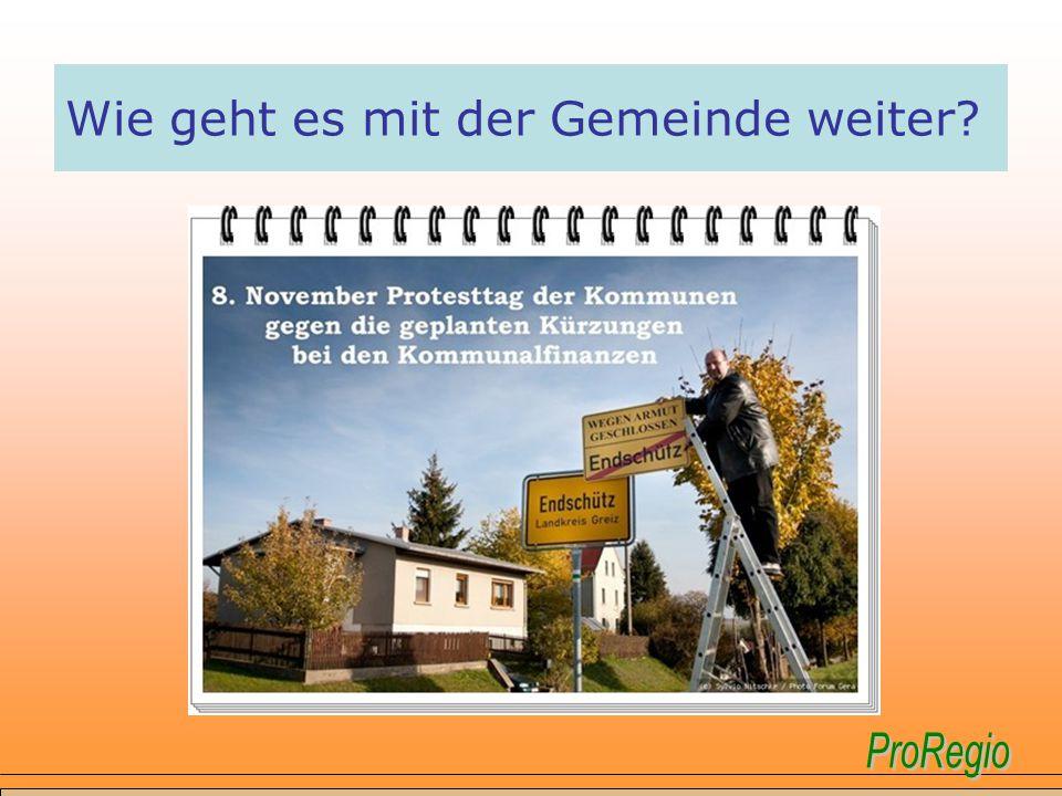  ProRegio ist eine Initiative zur Förderung unserer Gemeinden der Verwaltungsgemeinschaft Ländereck Seelingstädt und Wünschendorf.