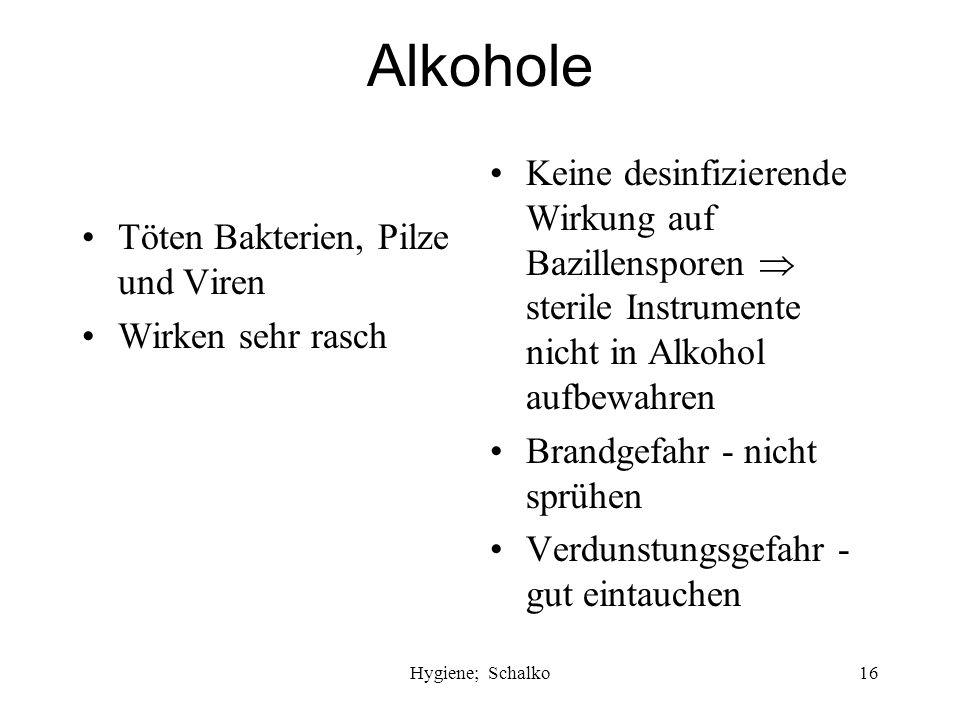 Hygiene; Schalko15 Kennzeichnung chemischer Desinfektionsmittel ÖGHMP Österreichische Gesellschaft für Hygiene, Mikrobiologie und Präventivmedizin