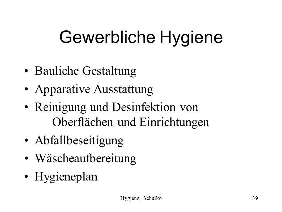 Hygiene; Schalko38 Infektion mit HIV, Hepatitis B, C Intensive Spülung mit Wasser oder besser PVP-Iod Intensive Spülung mit Alkohol bei Verdacht auf H