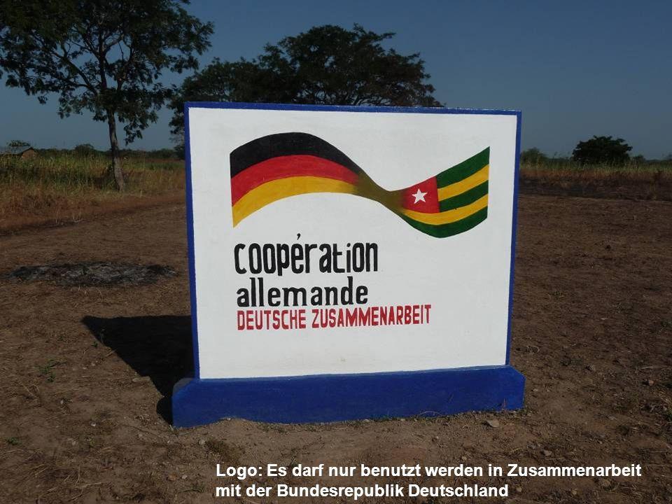 Logo: Es darf nur benutzt werden in Zusammenarbeit mit der Bundesrepublik Deutschland