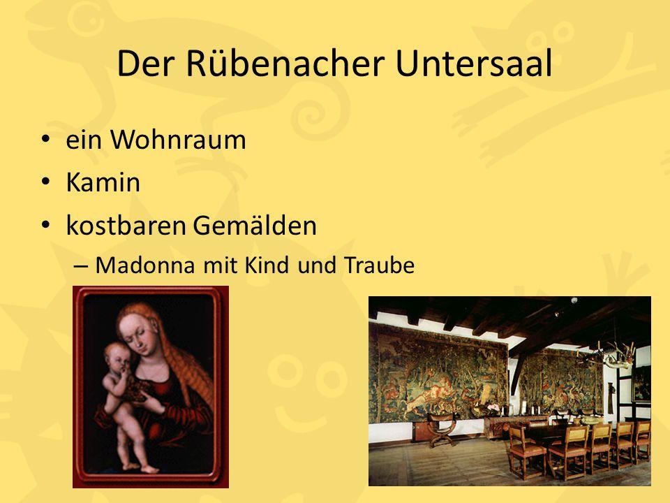 Der Rübenacher Untersaal ein Wohnraum Kamin kostbaren Gemälden – Madonna mit Kind und Traube