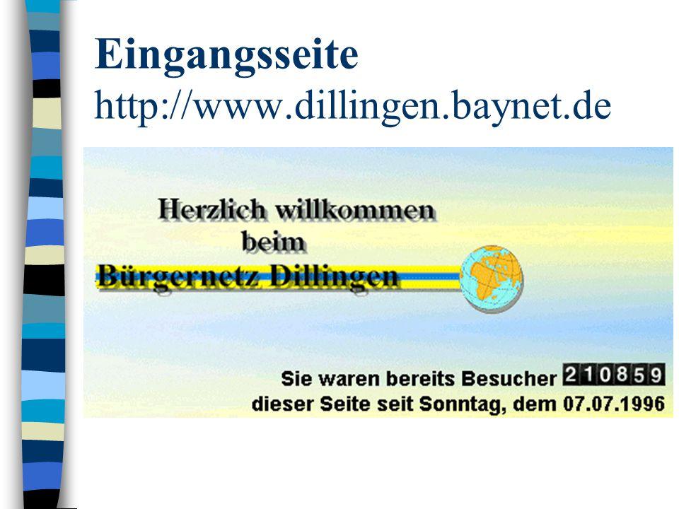 Organisation (I): Satzung des Bürgernetzes http://www.buerger.net/dillfoerdsatz.html