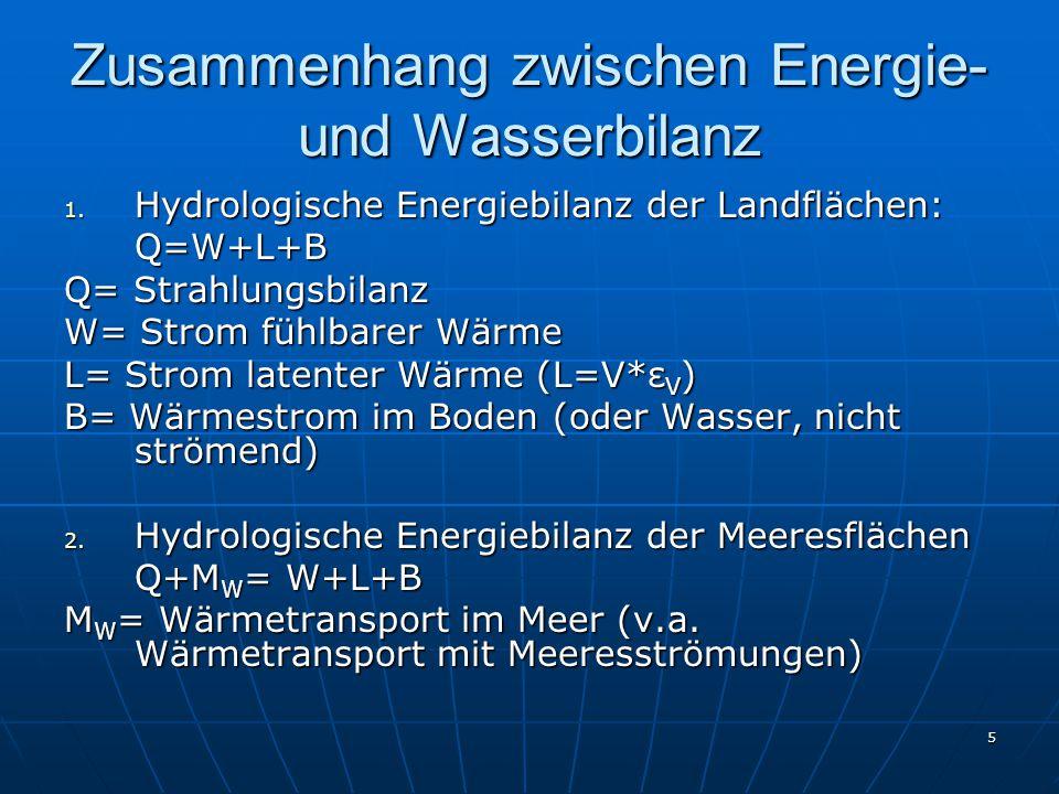 5 Zusammenhang zwischen Energie- und Wasserbilanz 1.