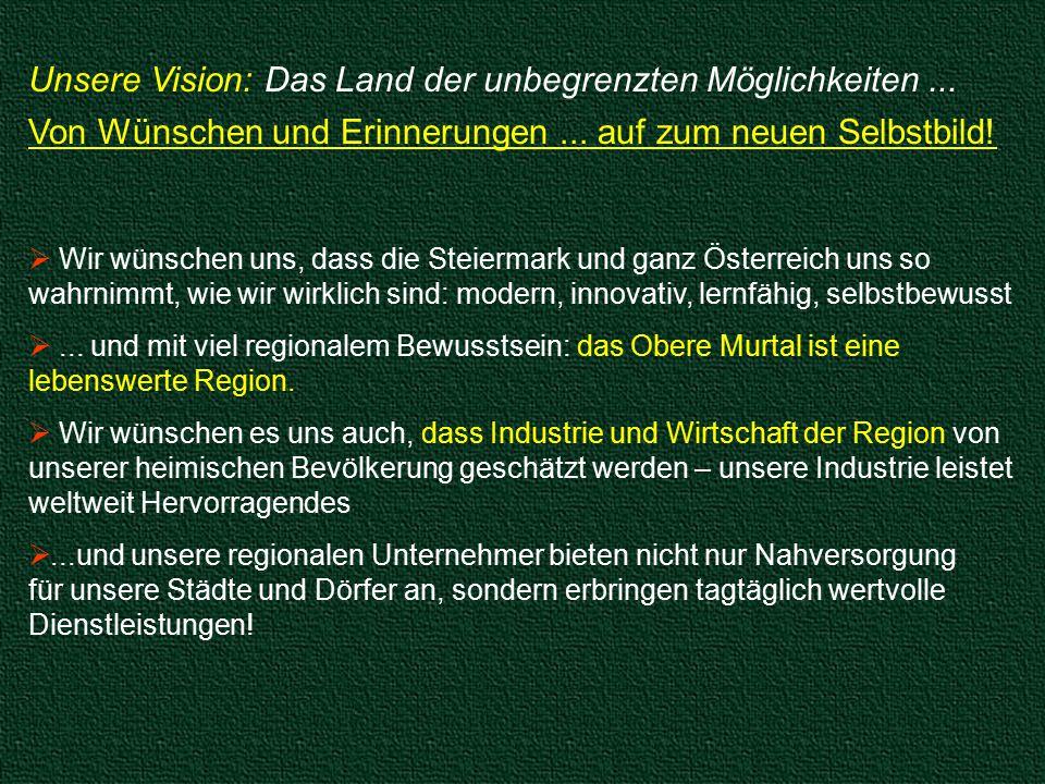 Unsere Vision: Das Land der unbegrenzten Möglichkeiten...