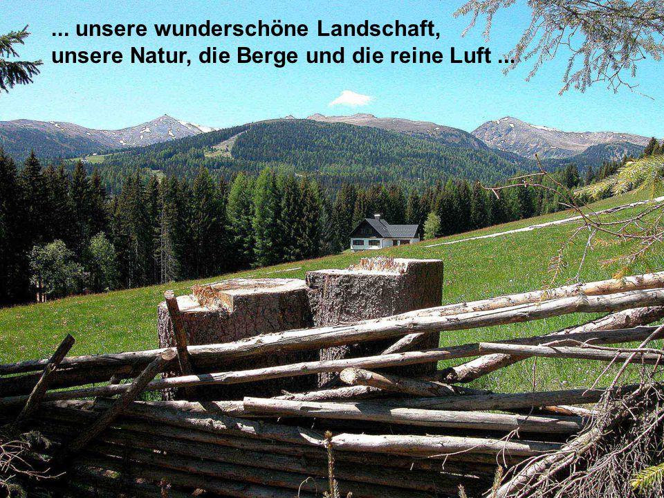 ... unsere wunderschöne Landschaft, unsere Natur, die Berge und die reine Luft...