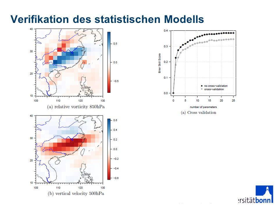 Verifikation des statistischen Modells 13