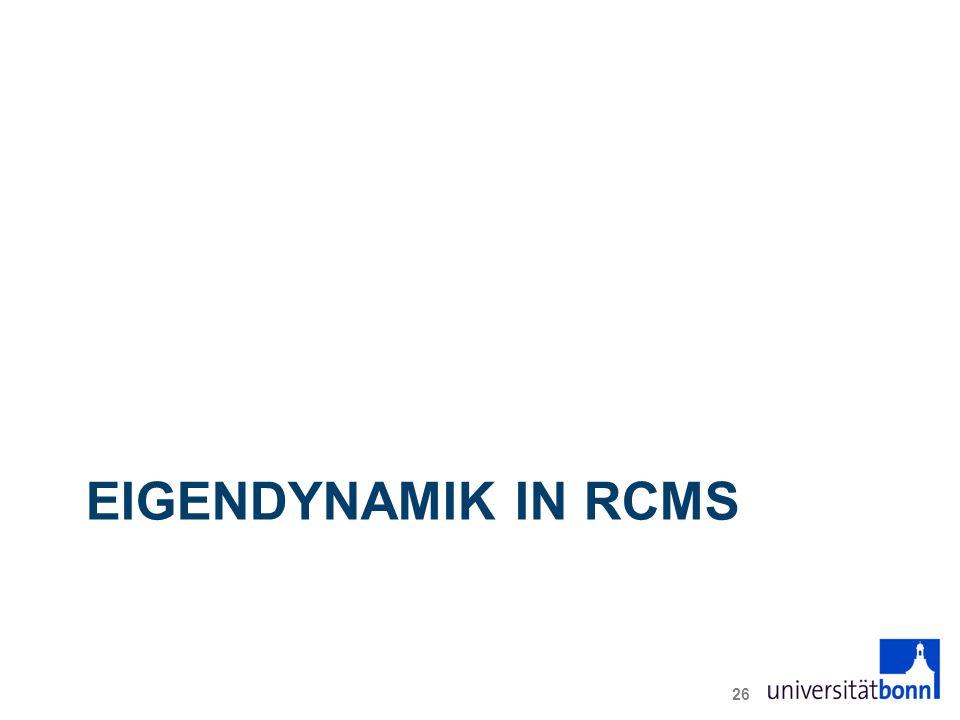 EIGENDYNAMIK IN RCMS 26