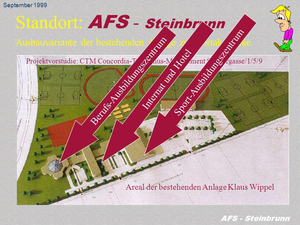 Standort: AFS - Steinbrunn in Verbindung mit bestehender Anlage Klaus Wippel September 1999