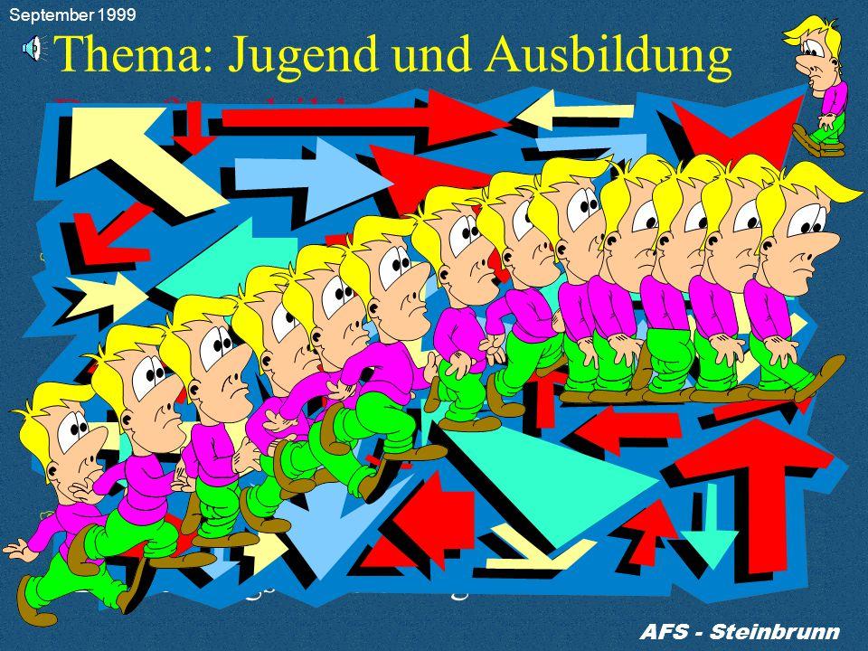 AFS - Steinbrunn Berufs - Ausbildungszentrum September 1999
